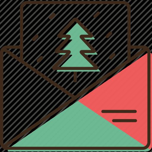 christmas, envelope, holidays, winter, xmas icon