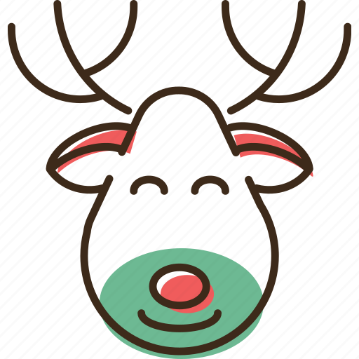 christmas, holidays, reindeer, winter, xmas icon