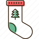 christmas, holidays, sock, winter, xmas icon