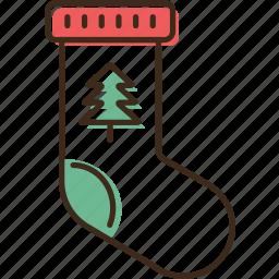 christmas, holidays, sock, winter, xmas icon