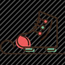 christmas, holidays, skate, winter, xmas icon