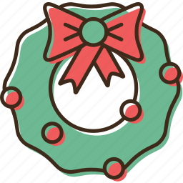 christmas, holidays, winter, wreath, xmas icon