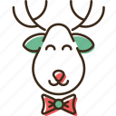 christmas, holidays, reindeer, winter, xmas icon