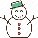 christmas, holidays, snowman, winter, xmas icon