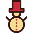 christmas, man, sculpture, snow, snowman icon