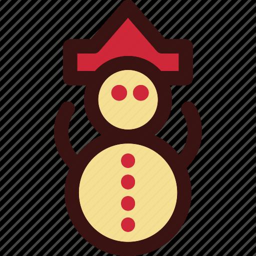 christmas, man, sculpture, snow, snowman icon