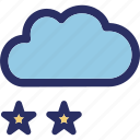 christmas cloud, christmas stars, celebrations, cloud, falling icon