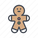 celebration, christmas, cookie, gingerbread man, xmas icon