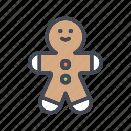 celebration, christmas, cookie, gingerbread man, xmas icon