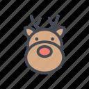 christmas, reindeer, santa, xmas icon