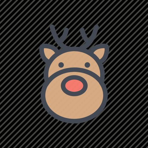 Christmas, reindeer, xmas, santa icon - Download on Iconfinder