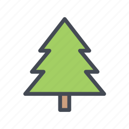 christmas, evergreen, forest, tree, winter, xmas icon
