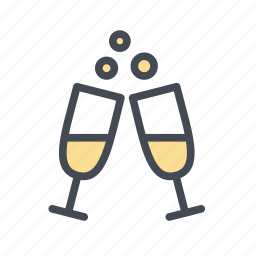 celebration, champagne, cheers, happy hour, party icon