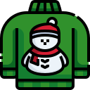 christmas, sweater, snowman, pullover, clothes, fashion icon
