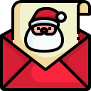 greeting, card, xmas, celebration, happy, santa, claus icon