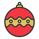 bauble, christmas, christmas ball, ornament icon