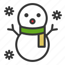 christmas, snowman, winter, xmas icon