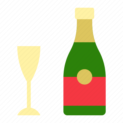 Alcohol, beverage, champaign, christmas, drinks, merry icon - Download on Iconfinder