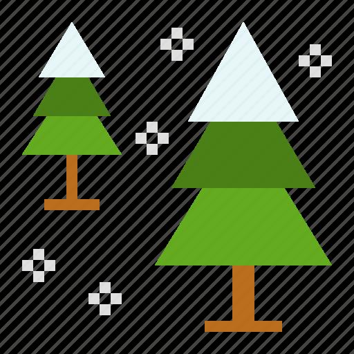 christmas, pine, snow, winter, xmas icon