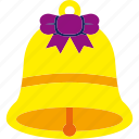 bell, christmas, ribbon, xmas icon