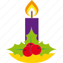 candle, christmas, decoration, holiday, light, xmas icon
