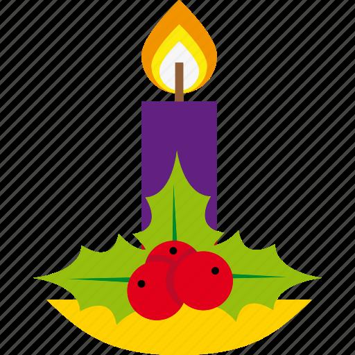 candle, christmas, decoration, holiday, light, xmas icon