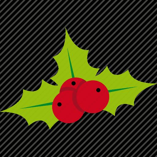 celebration, christmas, holiday, mistletoe, xmas icon