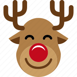 christmas, reindeer, rudolph, santa, sled, xmas icon