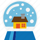 ball, decoration, snow, snowflake icon