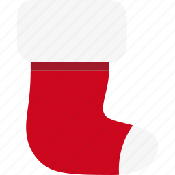 christmas, decoration, holiday, santa, sock, xmas icon