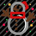 christmas, santa, snow, snowman