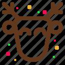 animal, christmas, deer, happy, santa