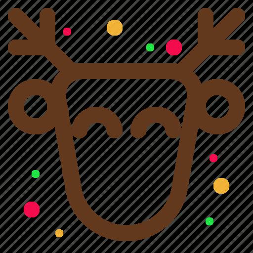 animal, christmas, deer, happy, santa icon