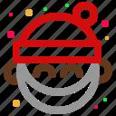 avatar, christmas, emoji, emoticon, happy, santa, smile