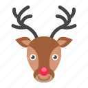 dear, deer, christmas, santa claus, xmas icon