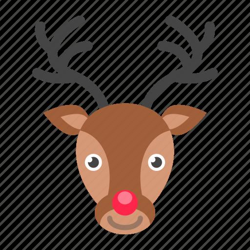 christmas, dear, deer, santa claus, xmas icon