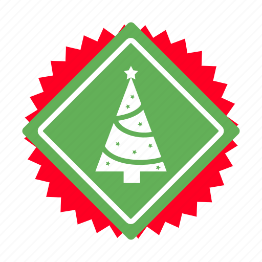 badges, branding, christmas, decoration, ribbon, tree, xmas icon