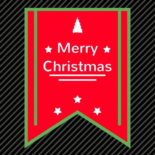 branding, christmas, decoration, poster, ribbon, tree, xmas icon