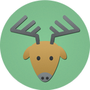 christmas, deer, reindeer, rudolf icon