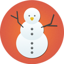 christmas, snow, snowman icon