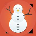 snowman, christmas, snow