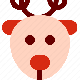 christmas, deer, rudolf, santa, xmas icon