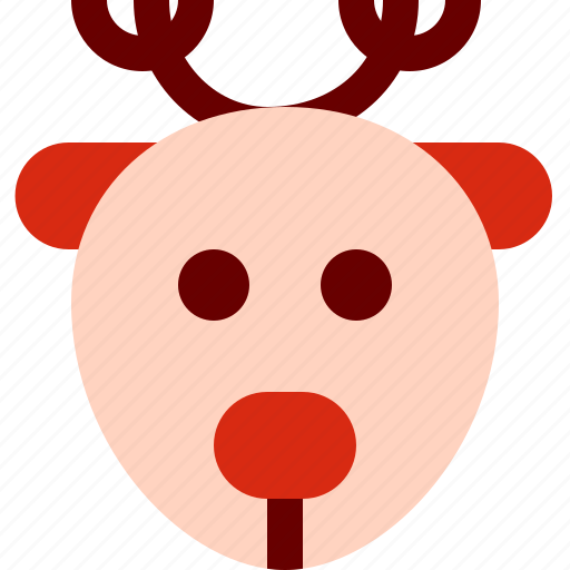 christmas, deer, rudolf, xmas icon