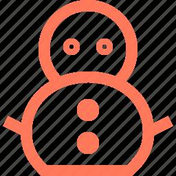 man, snow, snowman icon