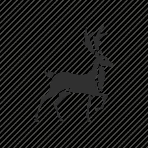 animal, deer, reindeer, rudolph icon