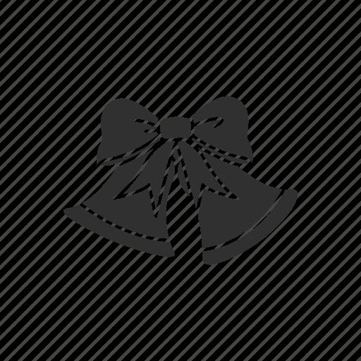 bell, decoration, ornament, ribbon icon