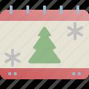 calendar, christmas, event, holiday, tree, xmas icon