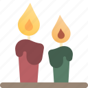 candle, christmas, decoration, light, xmas