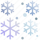 christmas, falling, snow, snowflake, winter, xmas
