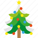 christmas, forest, snow, star, tree, winter, xmas icon